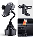 【2 in 1】 Car Phone Mount,【Ultra Stable & Full Protect】 Cup & Air Vent Phone Holder, Universal Hands Free Cradle for…