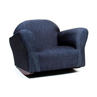 KEET Bubble Rocking Kid's Chair, Denim