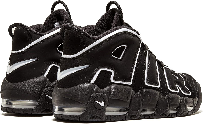 Cerdito Contratado Para buscar refugio  Amazon.com | Nike Mens Air More Uptempo Black/White-Black Leather |  Basketball