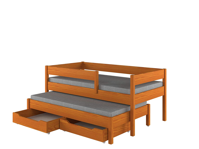 Cama nido para niños Colchones Junior para niños 140x70 160x80 180x80 180x90 200x90 ¡Sin cajones y sin colchón incluido! (180x90, roble claro): Amazon.es: ...