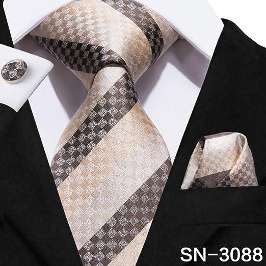 IG Carrera Hombres S Tie Tie Corbatas para hombre Seda tejida ...