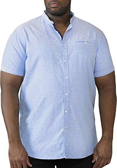 Duke London Duke Liso sin Cuello Camisa Manga Corta - Azul Cielo, XXXXXX-Large: Amazon.es: Ropa y accesorios