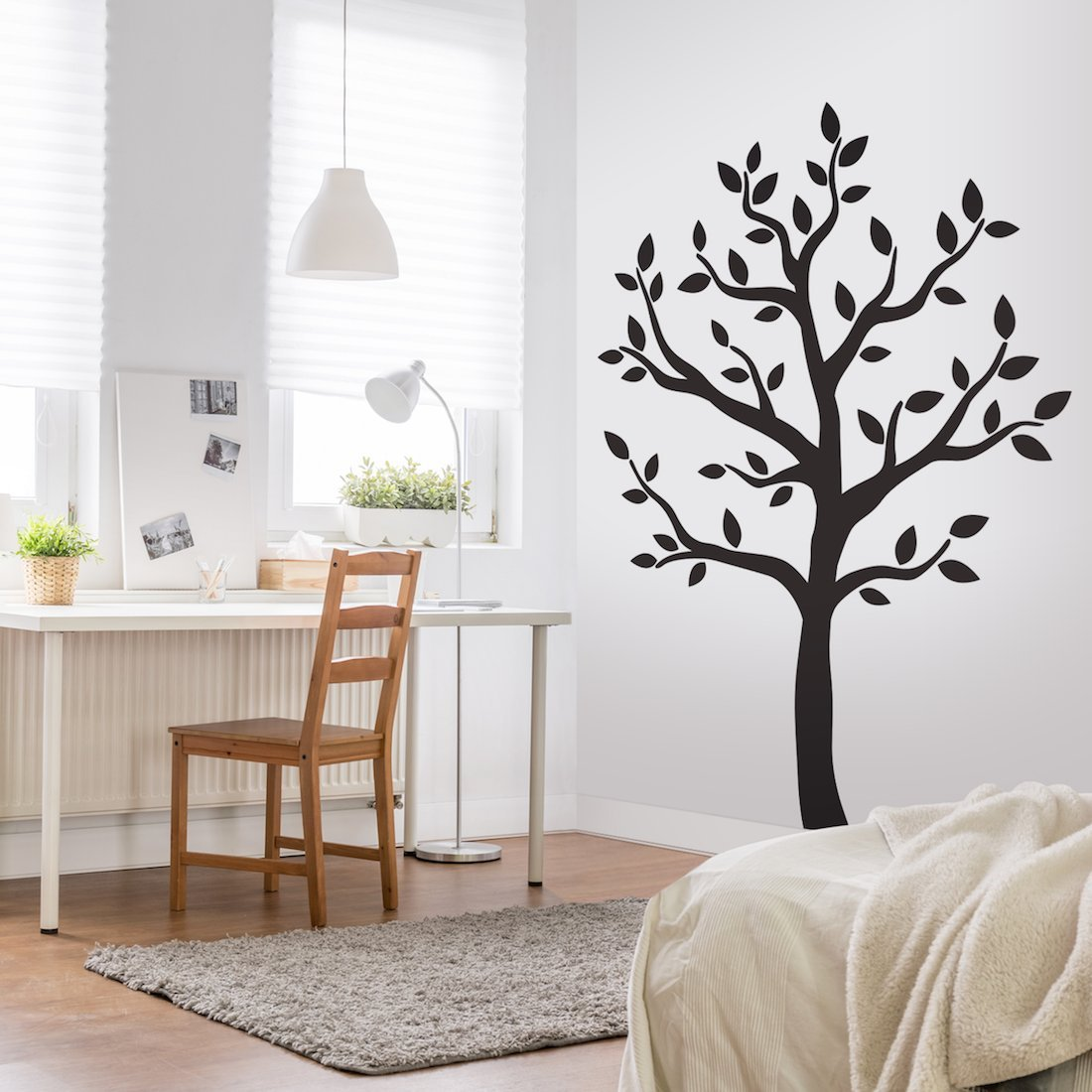 Amazon timber artbox large black tree wall decal the easy amazon timber artbox large black tree wall decal the easy to apply yet amazing decoration for your home health personal care amipublicfo Choice Image