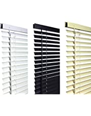 umlout Pvc Venetian Blinds, AVAILABLE IN 10 SIZES AND 3 COLOURS FROM 45CM WIDE TO180CMS