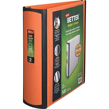 amazon com staples better binder 2 inch orange office products