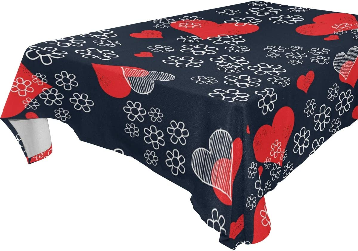 Clover Heart Round Tablecloth Geometric Cotton Sateen Circle Tablecloth by Spoonflower Bold Love Clover  by kathrinwoo