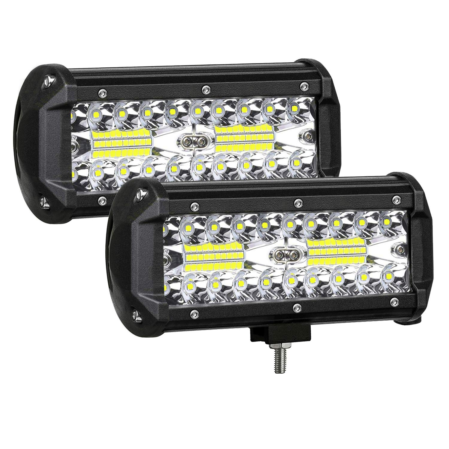 "AUZKIN- 7 "" LED Light Bar Submersible driving lights 240W 24000lm LED Pods Spot Flood Combo Beam Off Road lights"