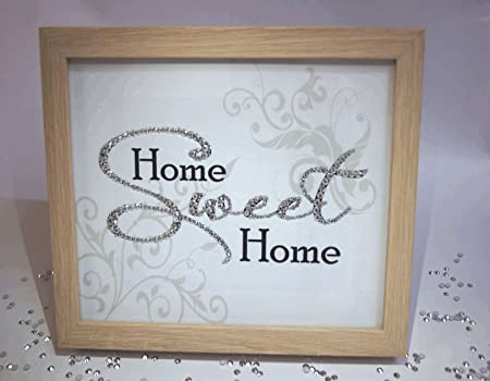 Home Sweet Home Sparkle Word Art Pictures Quotes Sayings Home