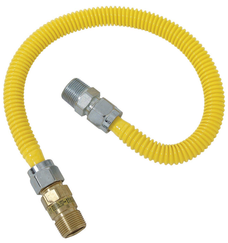 Plumb Shop Brasscraft CSSC44E-48P 1/2-Inch MIP x 1/2-Inch MIP x 48-Inch Gas Connector