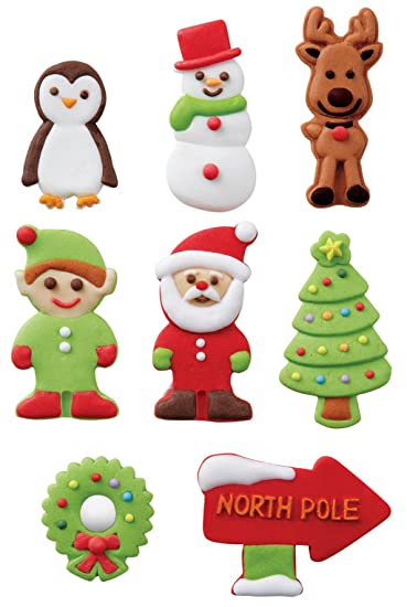 Wilton Gingerbread House Icing Decorations: Amazon.com: Grocery ...