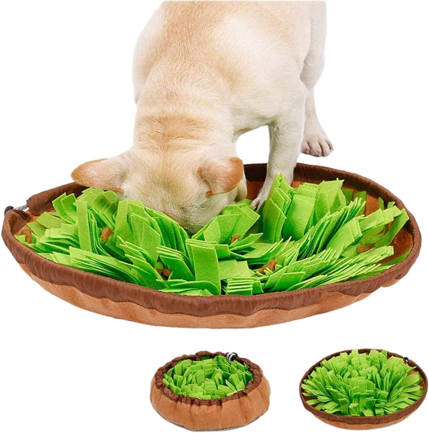 Snuffle Mat│Dog Toys Interactive│Dog Brain Stimulating Toys│Dog Feeding Mat Helps to Keep Dog's Brain's Active│Snuffle Mat for Dog's Small and Large│Encourages Foraging Skills and Stress Release