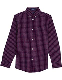d4660d1a1 Amazon.com: Calvin Klein Boys' Long Sleeve Plaid Button-down Dress ...