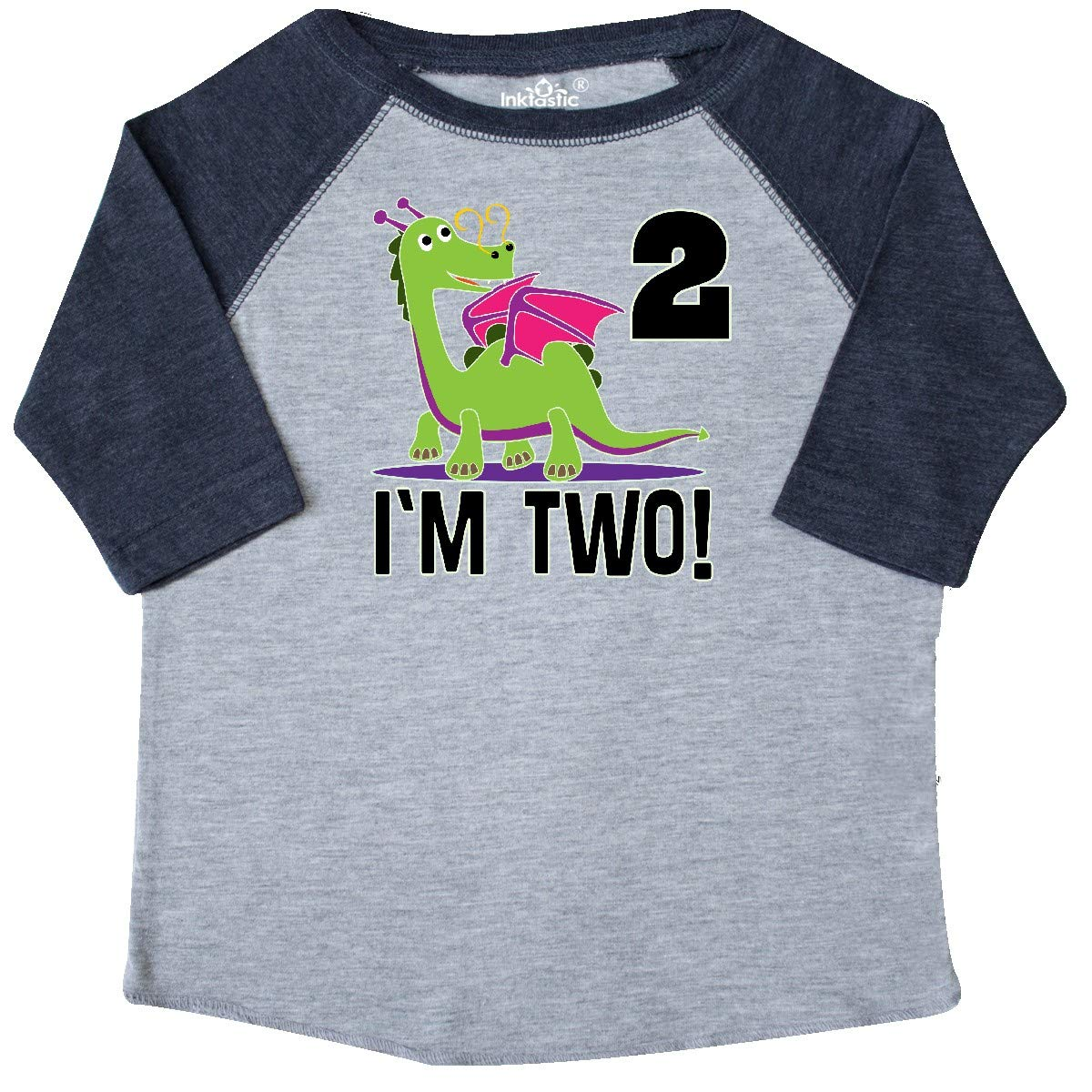 inktastic 2nd Birthday Outfit Girl Dragon Toddler T-Shirt