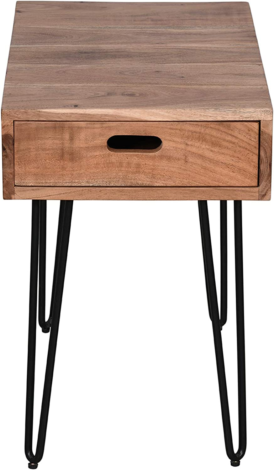 Jofran Inc. Rollins Solid Acacia Side End Table, Natural