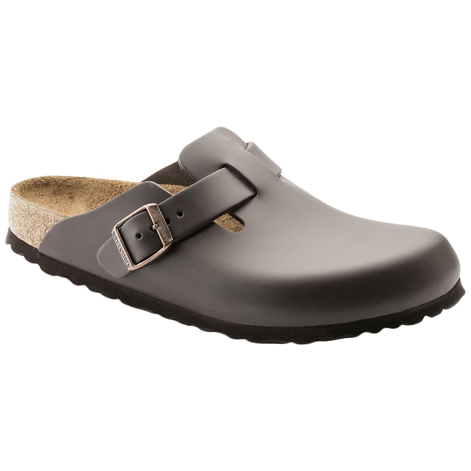 Birkenstock Boston, Unisex Adults' Clogs, Dark Brown Leather,7 UK (40 EU)