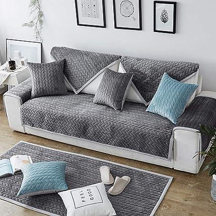 Wondrous Plush Solid Sofa Cover Quilted Sofa Slipcover Anti Slip Interior Design Ideas Tzicisoteloinfo