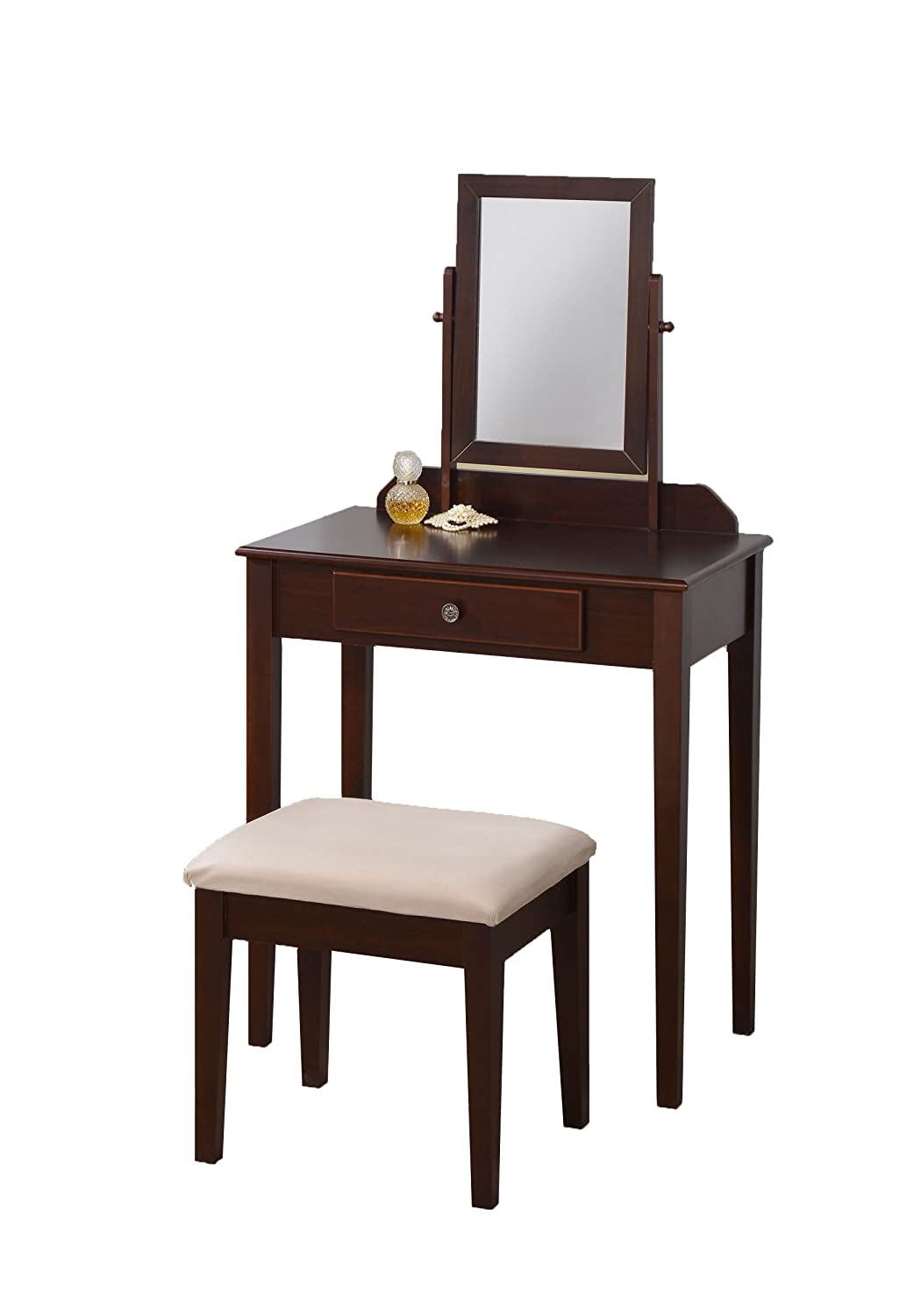 Amazon com williams home furnishing 13008 lilette vanity brown espresso finish kitchen dining