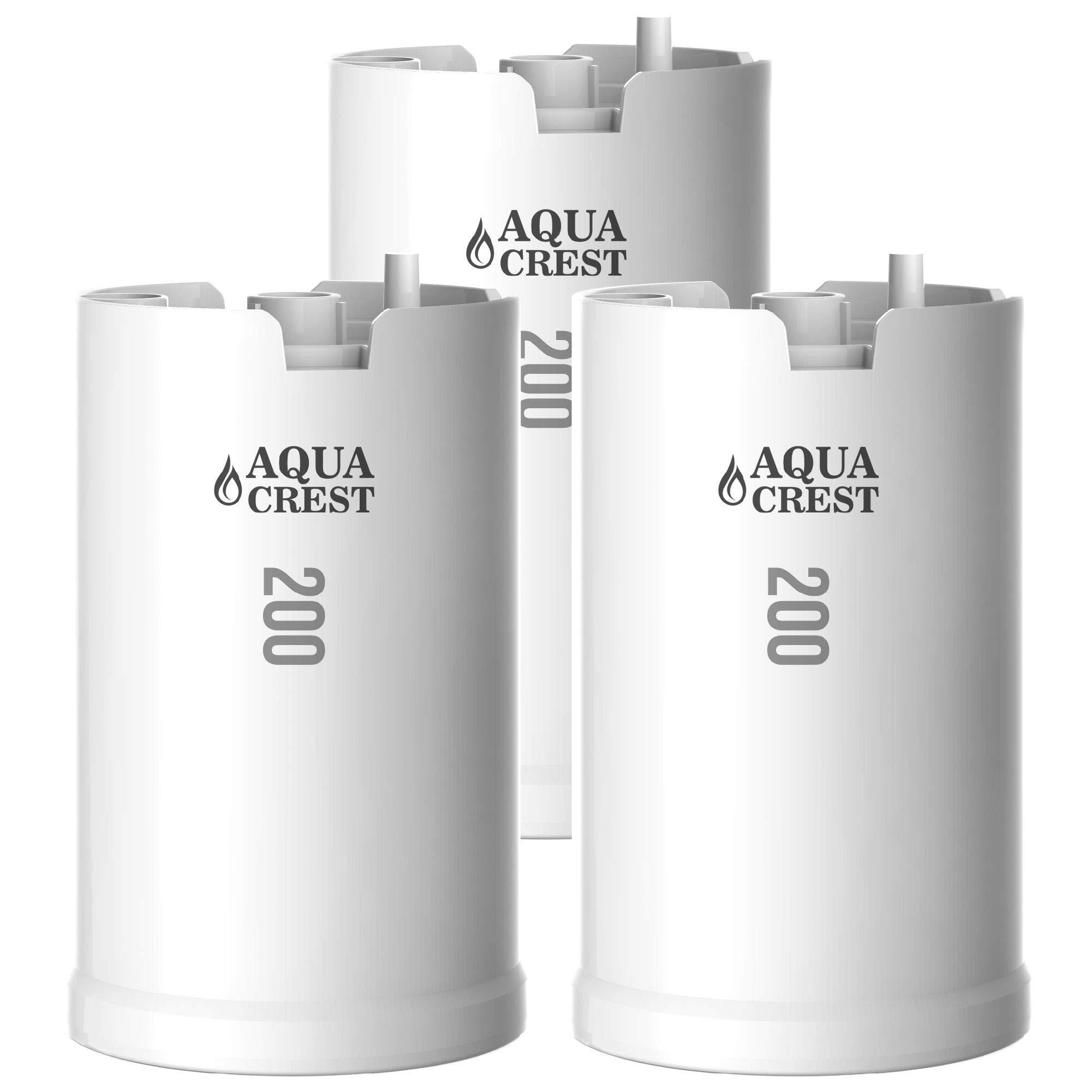 AQUACREST WFFMC303X Faucet Water Filter, Compatible with DuPont FMC303X, WFFMC300X Faucet Mount Water Filtration Cartridge, 200-Gallon (Pack of 3) by AQUA CREST