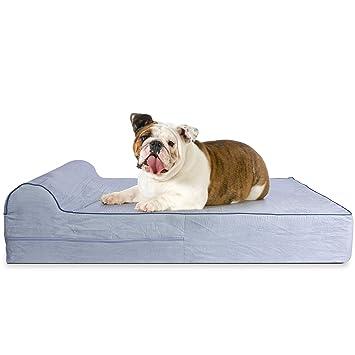 KOPEKS Cama Grande para Perros Mascotas Grandes con Memoria Viscoelástica Ortopédico 91 x 71 x 15 cm más la Almohada - L - Gris: Amazon.es: Productos para ...