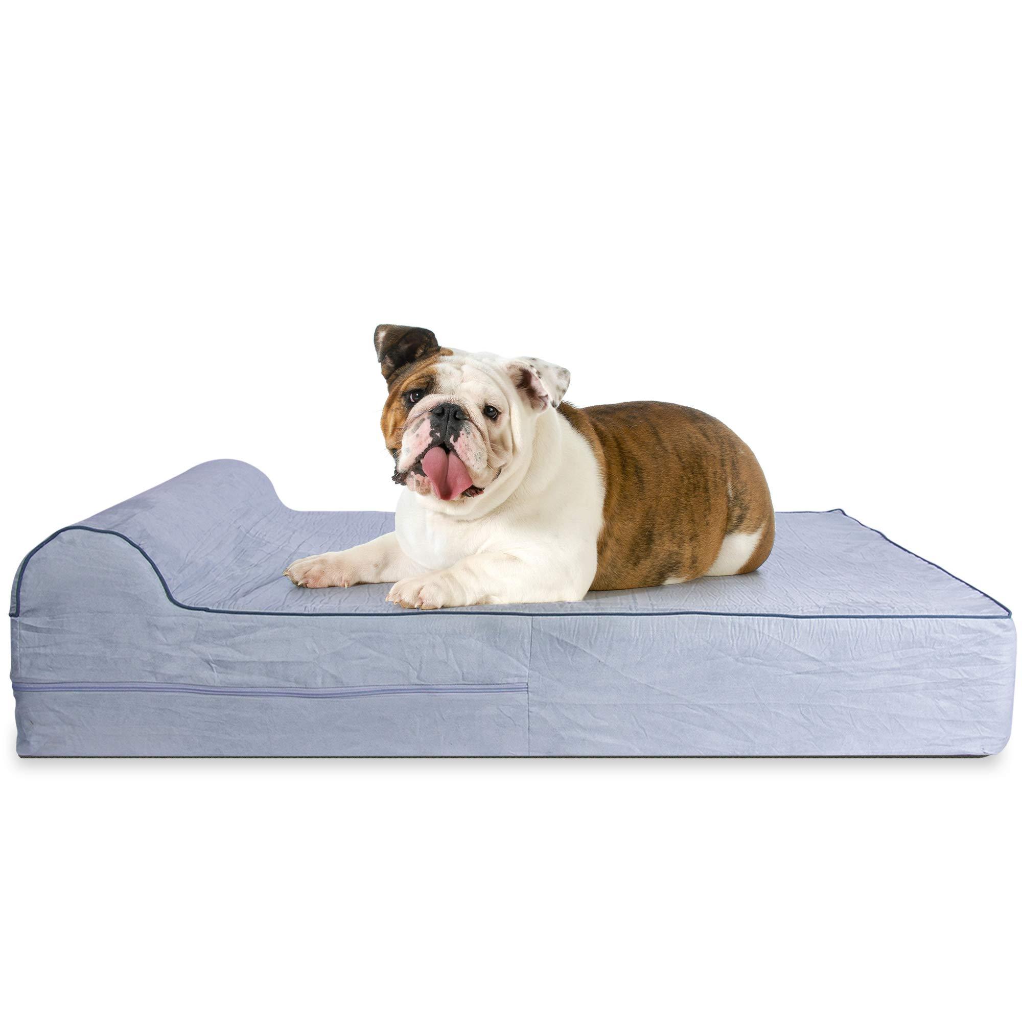 KOPEKS Cama Grande para Perros Mascotas Grandes con Memoria Viscoelástica Ortopédico 91 x 71 x 15
