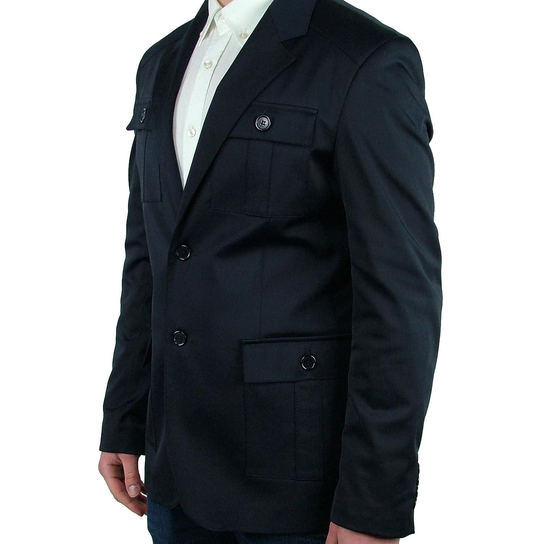 Giacca Blazer Casual Uomo Sartoriale tasche Slim Fit Uomo JeyVi TG 48 Blu  Elegante Sportiva Made In Italy  Amazon.it  Abbigliamento 73100c924fe