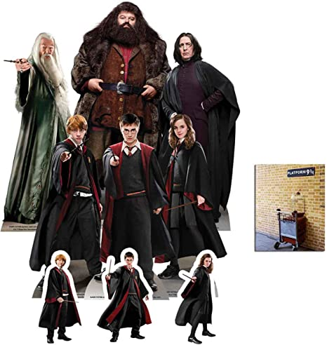BundleZ-4-FanZ Harry Potter - Set de 9 expositores de cartón para Fiestas (Incluye Harry, Ron, Hermione, Dumbledore, Hagrid y Professor Snape, Incluye ...