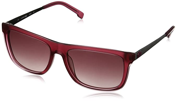 f78a040344 Image Unavailable. Image not available for. Color  Lacoste Women s Square  Translucent Pink Sunglasses