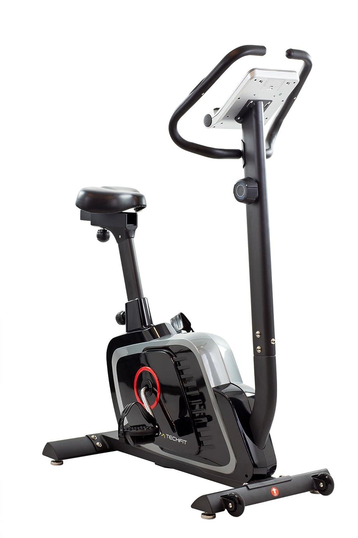 TechFit B470 Magnetisches Fitness Fahrrad Ergometer - Cardio - Fitnessfahrrad mit einstellbarem Sattel, Puls-Sensoren und LCDMonitor. Resistenter Heimtrainer für die perfekte Figur.