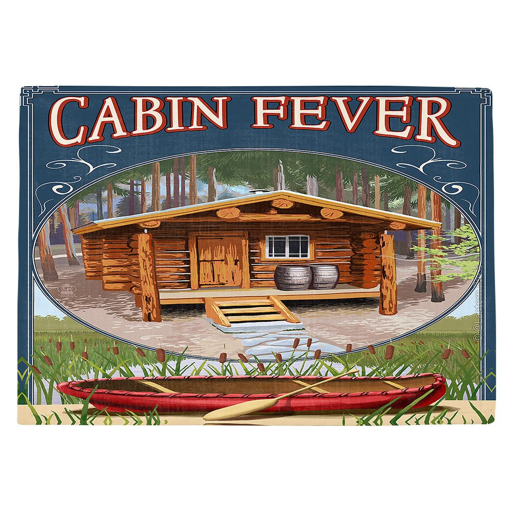 DIANOCHEキッチンPlaceマットbyランタン押しCabin Fever Set of 4 Placemats PM-LanternPressCabinFever2 Set of 4 Placemats  B01EXSIVBY