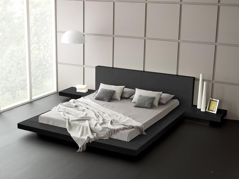 Amazon com matisse fujian modern bed 2 night stands king ash black kitchen dining