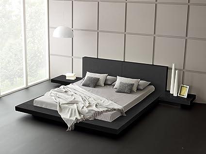 amazon com matisse fujian modern bed 2 night stands king (ashModern Platform Bed #9