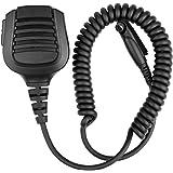 Retevis IP67 Waterproof Shoulder Speaker Mic Microphone with Reinforced Cable for Two Way Radios Retevis RT82 TYT MD-2017 Walkie Talkies(Black,1 Pack)