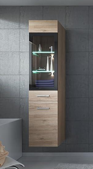 Amazon.de: Badezimmer Schrank Rio 131 cm San Remo - Regal Schrank ...