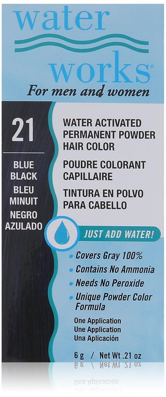 Amazon Waterworks Permanent Powder Hair Color Blue Black Beauty