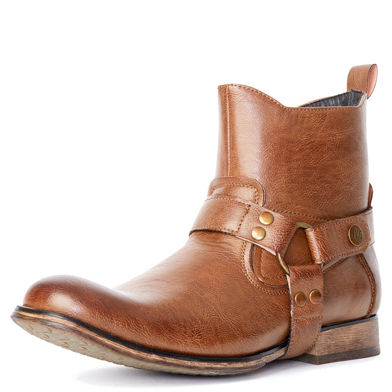 Jump J75 by Men's Wild X Western Boot Tan Pebble 9 D US