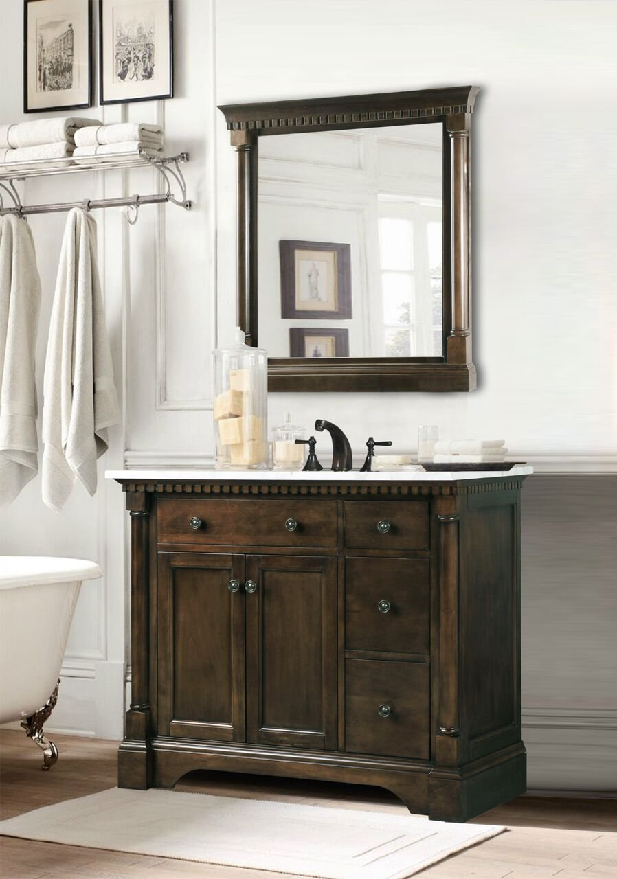 mirror bathroom vanity legion furniture single set with
