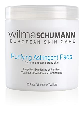 Amazon.com : WILMA SCHUMANN Purifying Astringent Pads (60 Pads) - Remove Oil, Impurities, and Dead Skin Cells With Antibacterial Salicylic and Glycolic ...