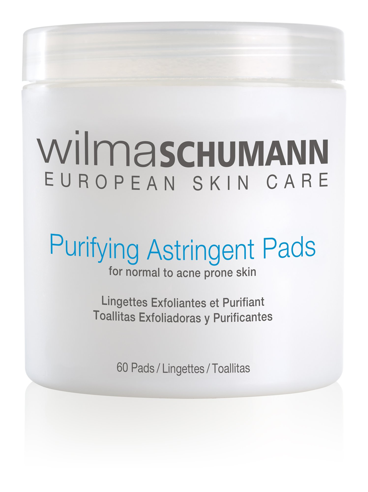 WILMA SCHUMANN Purifying Astringent Pads (60 Pads) - Remove Oil, Impurities, and