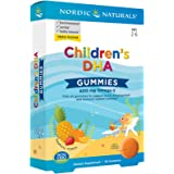 Nordic Naturals Children's DHA Gummies, Tropical Punch - 30 Gummies - 600 mg Total Omega-3s with EPA & DHA - Brain…