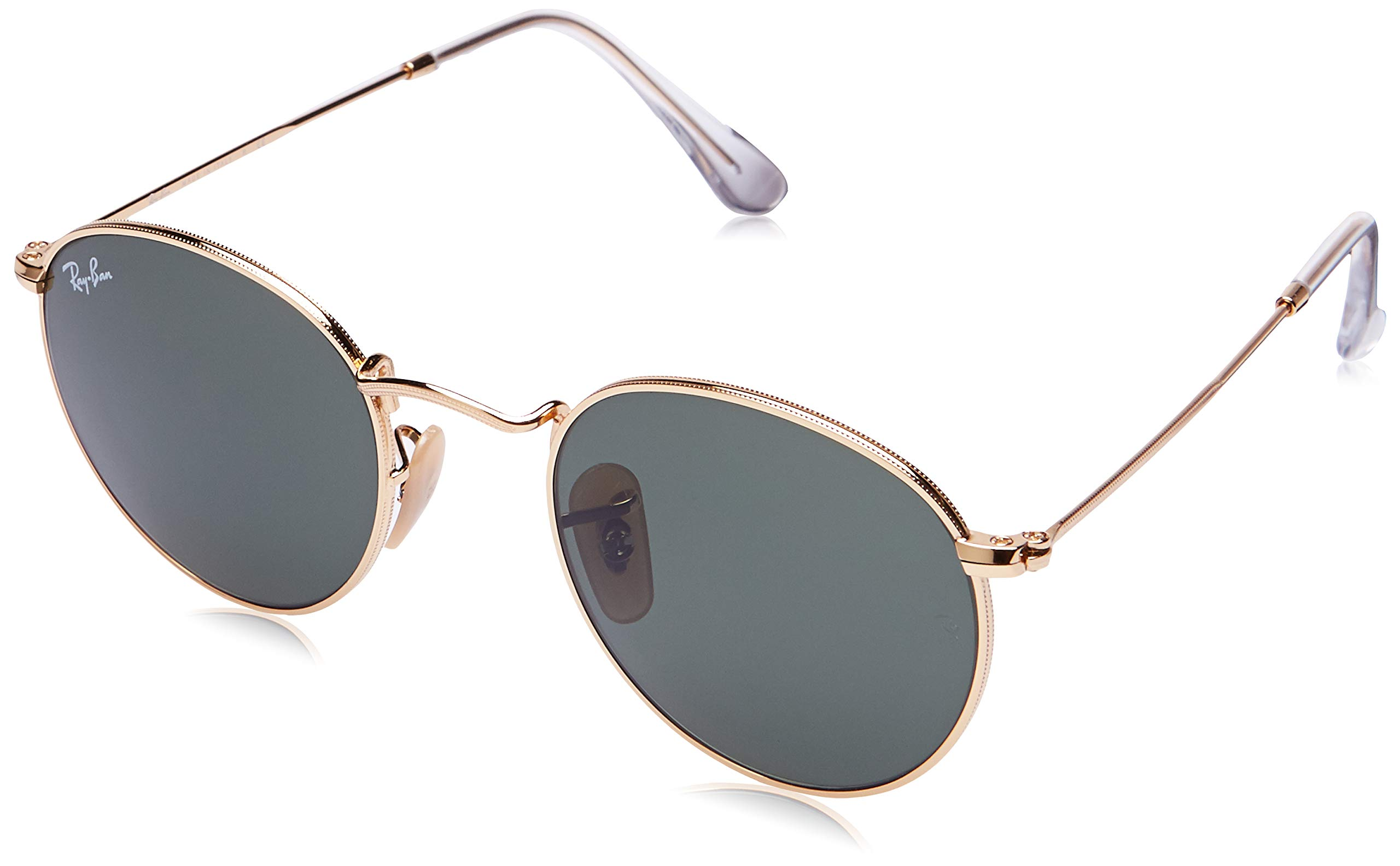 Ray-Ban RB3447 Round Metal Sunglasses, Gold/Green, 47 mm by Ray-Ban