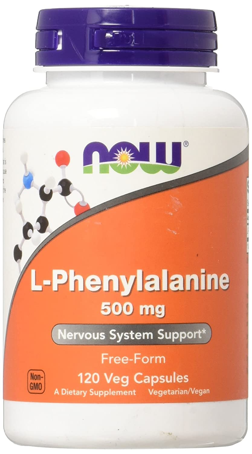 NOW Foods L Phenylalanine 500mg Capsules Image 1