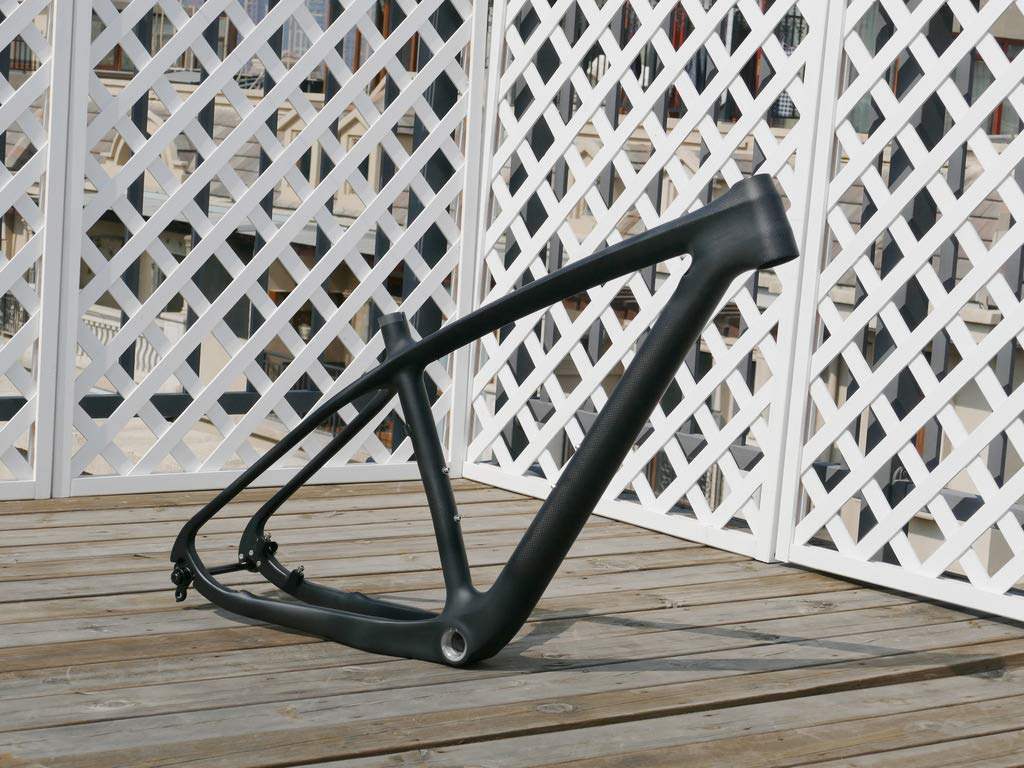 flyxii 3K Carbon Fiber Glossy 29er Mountain Bike Frame 17.5' MTB Frame (for BB30) + Bicycle Thru axle 142mm x 12mm