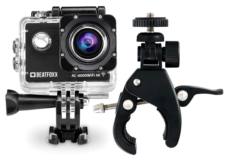 Beatfoxx AC-6000WiFi 4k Full HD Action Kamera (Video  4096 x 2160p 25 fps, Unterwassergehäuse, 170° Weitwinkel Objektiv, integrierte WiFi Schnittstelle, Fernbedienung, Halterungsset, inkl. FlexClamp)