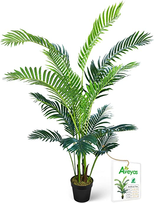 BRAND NEW LARGE 5/' ARECA SILK PALM TREE QUALITY ARTIFICIAL FAKE TROPICAL PLANT