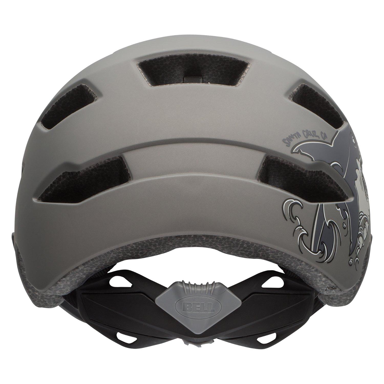 Bell Sidetrack Youth Bike Helmet - Kid's Matte Titanium Shark by Bell (Image #3)
