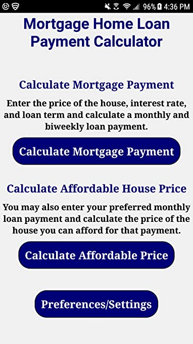 Amazon.com: Mortgage Home Loan Payment Calculator Pro: Appstore for ...