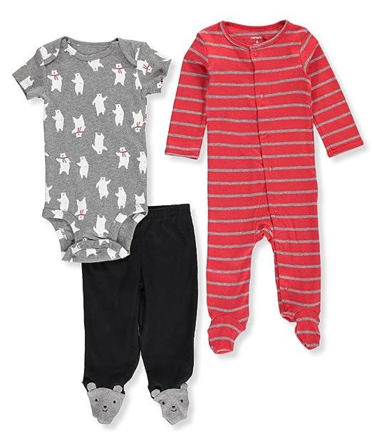 Carters Conjunto de 3 piezas de bodysuit de oso polar y conjunto de bata para bebé
