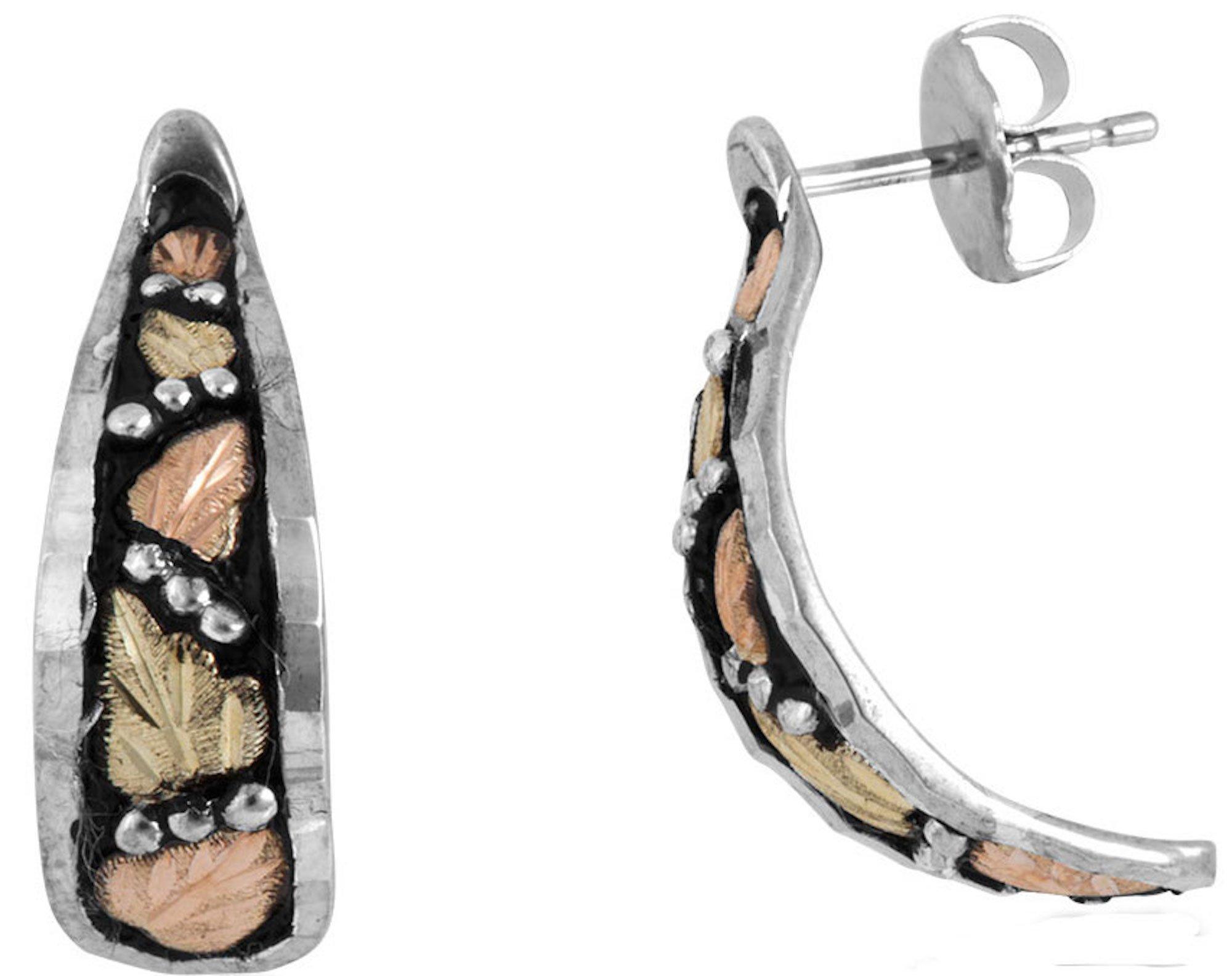 Silver Black Hills Gold Black Powder Earrings