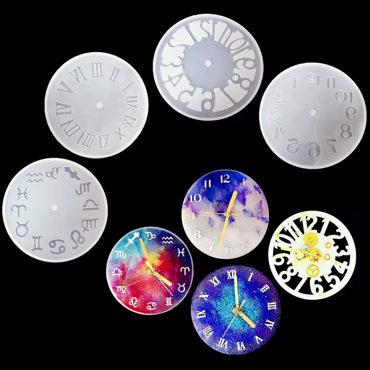 4 moldes para resina epoxy relojes de 15cm de diametro