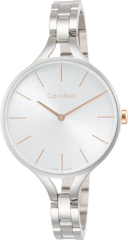 Calvin Klein Reloj Analogico para Mujer de Cuarzo con Correa en Acero Inoxidable K7E23B46
